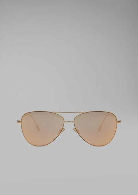 Sunglasses with 18k gold plating