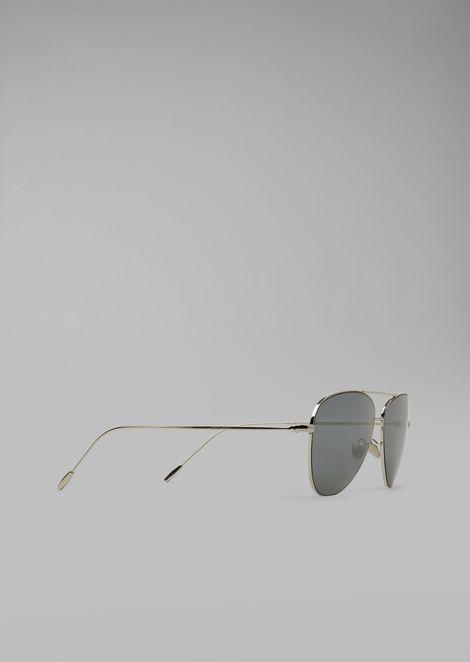 Occhiali da sole con placcatura in oro 18k