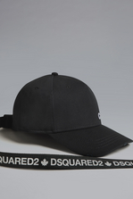 DSQUARED2 Caten Baseball Cap With Tape Hat Man