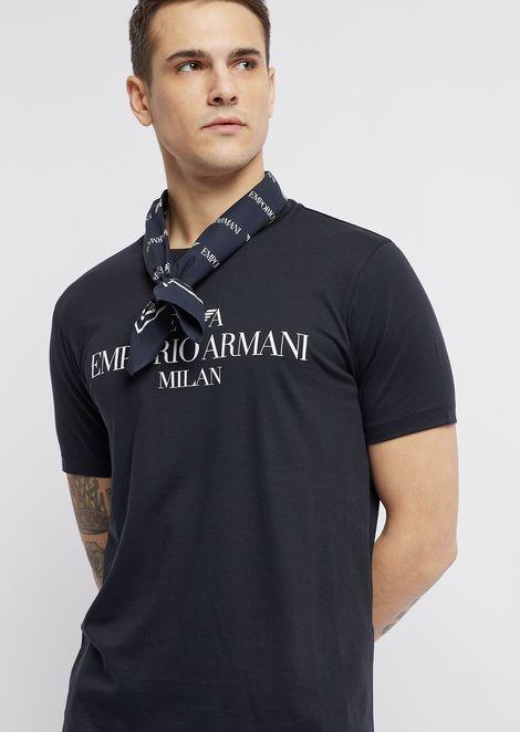 Bandana in patterned, logo fabric