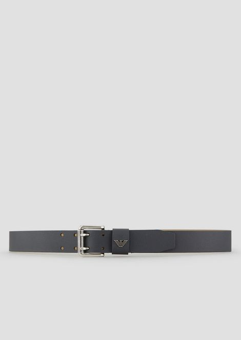 Belt in printed boarded leather