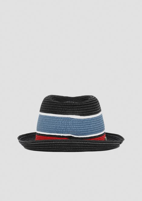 Striped straw hat