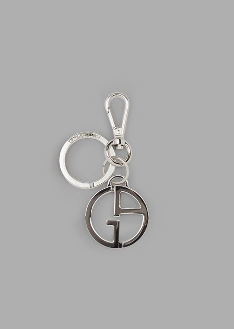 Keyring with two logo pendants