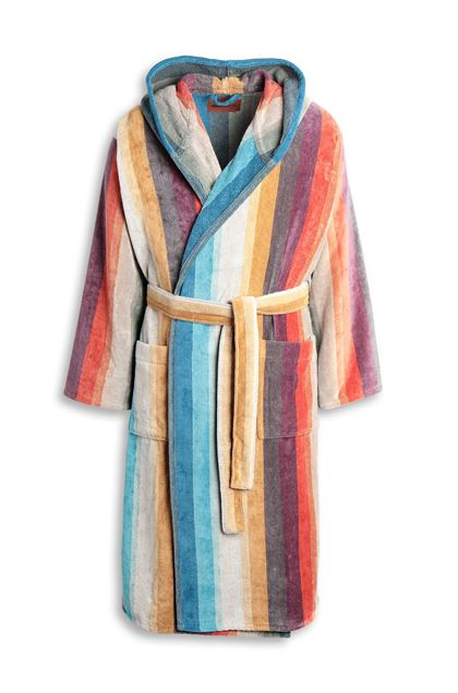 MISSONI HOME WOODY  HOODED BATHROBE Orange E - Back