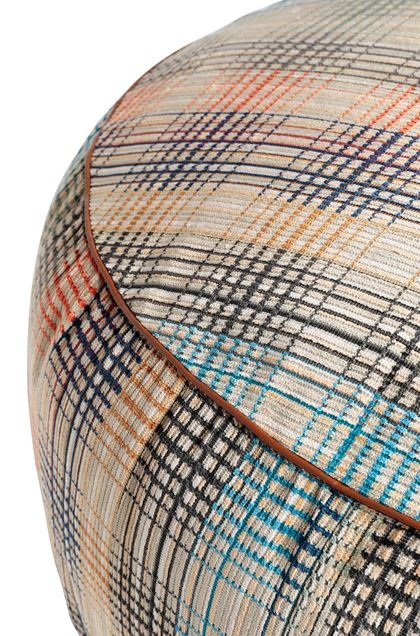 MISSONI HOME WHITTIER DIAMANTE POUF Sand E - Front