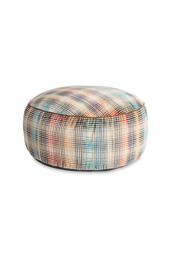 MISSONI HOME WHITTIER DIAMANTE POUF Sand E