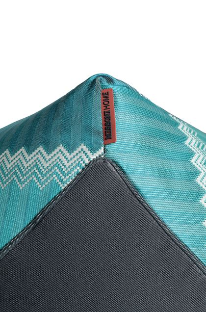 MISSONI HOME WELLS PUFF IN DIAMANTEN-FORM Blau E - Vorderseite