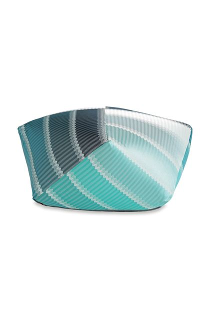 MISSONI HOME WELLS PUFF IN DIAMANTEN-FORM Blau E - Rückseite