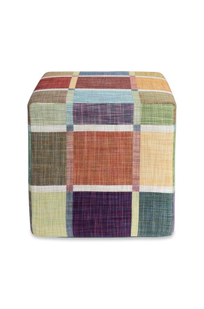MISSONI HOME WINCHESTER CUBE POUF Light green E - Back
