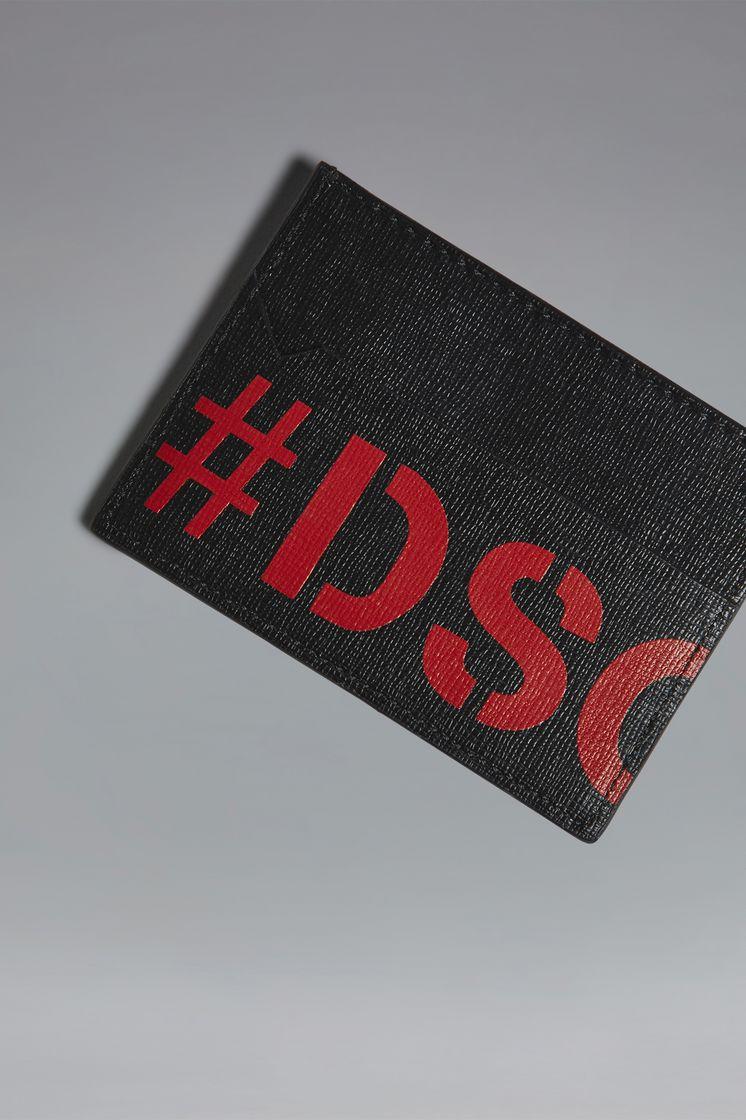 DSQUARED2 Red & Black Punk Credit Card Holder Credit Card Holder Man