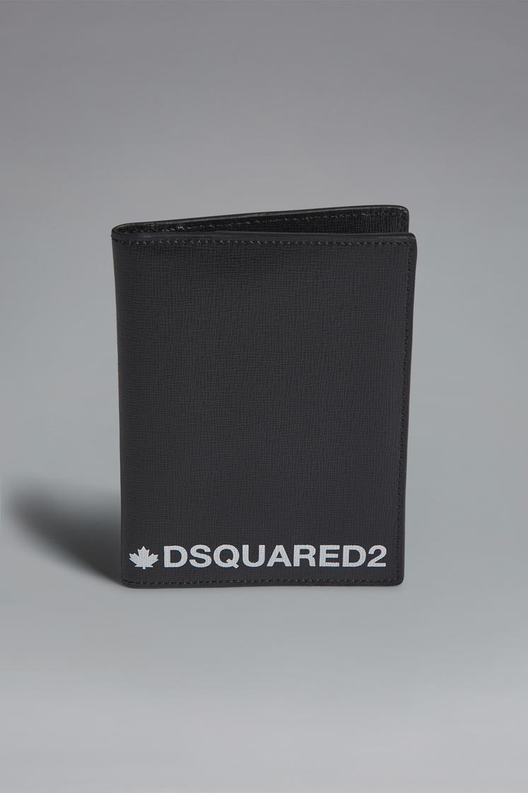 DSQUARED2 Red & Black Punk Passport Holder Document holder Man