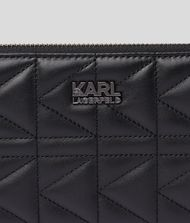 KARL LAGERFELD K/Kuilted Zip-Around Wallet 9_f