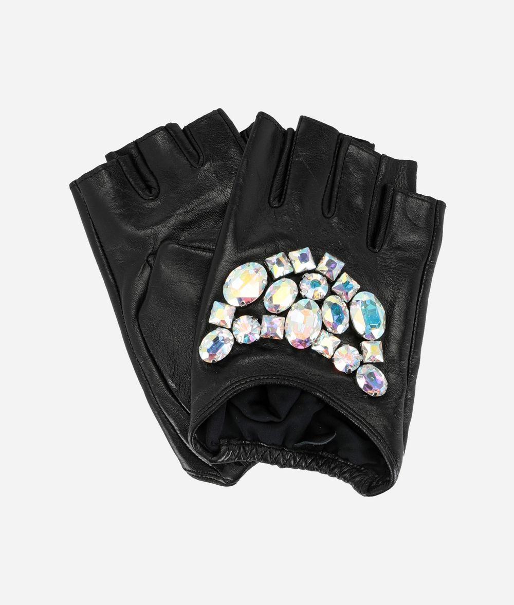 KARL LAGERFELD Sparkly Stones Fingerless Gloves Glove Woman f