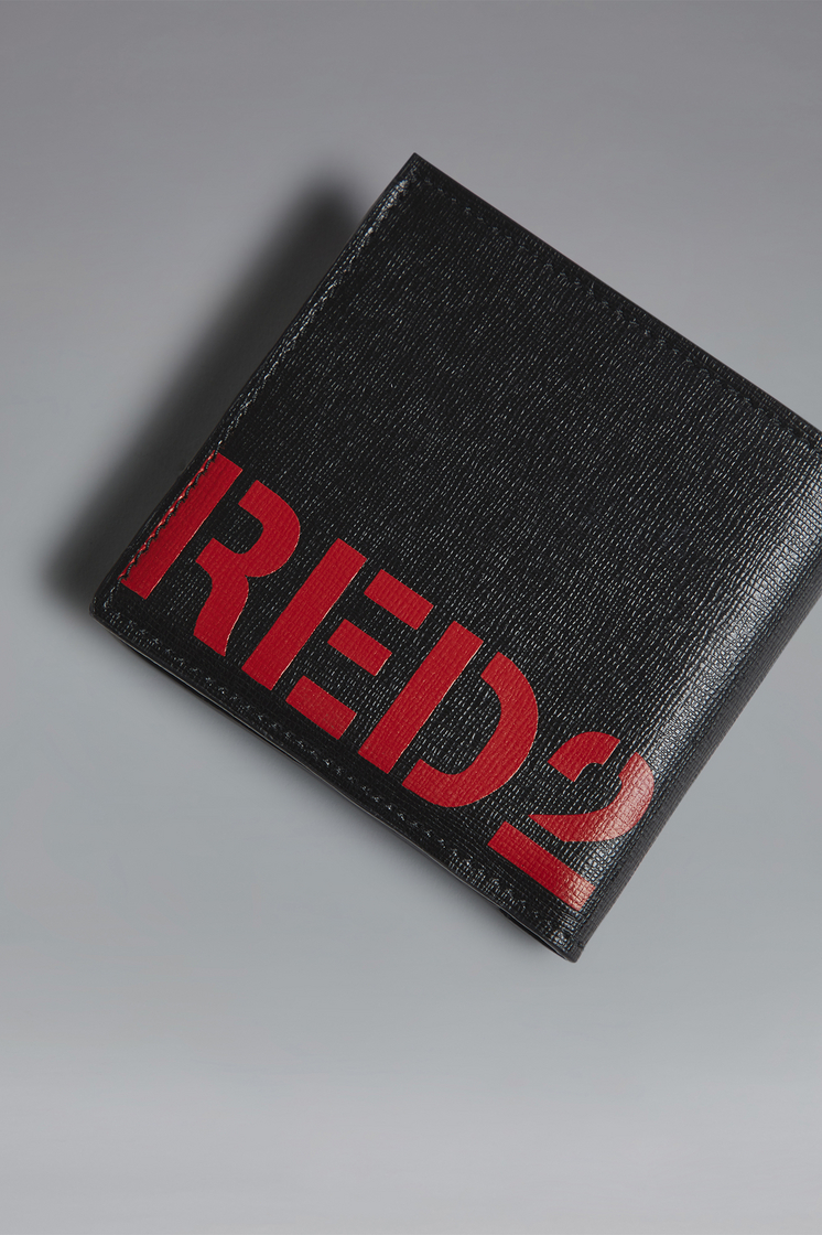 DSQUARED2 Red & Black Punk Wallet Wallet Man