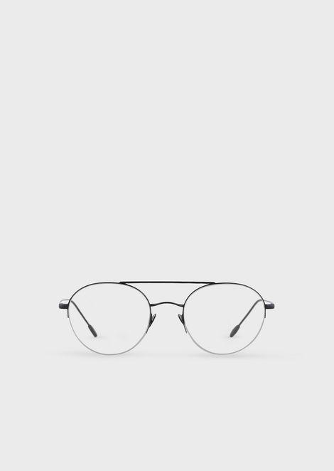 Gafas redondas con media montura