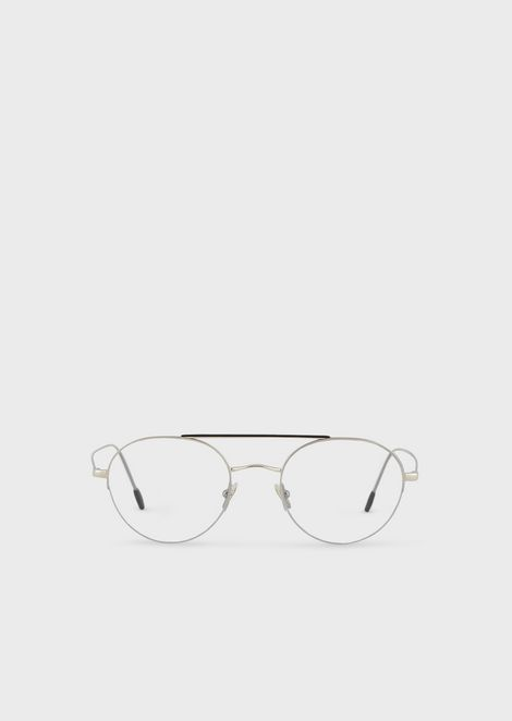 Semi rim round men eyeglasses