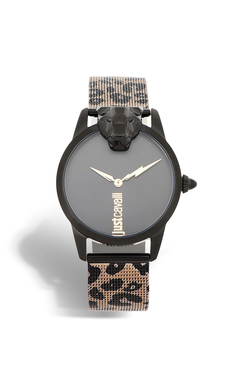 JUST CAVALLI Watch with leopard-print strap Watch Woman f