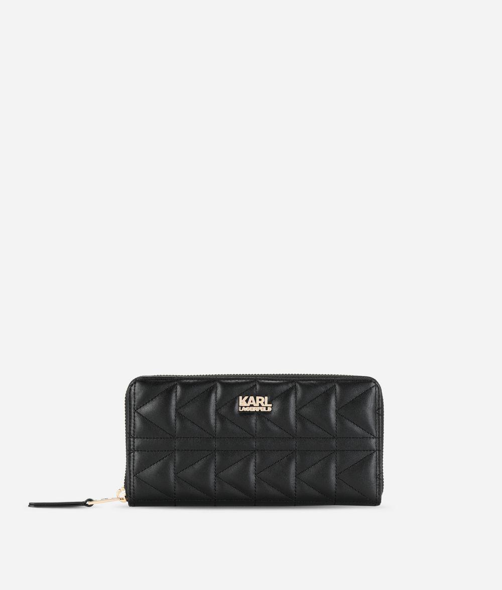 KARL LAGERFELD K/Kuilted Zip-Around Wallet Wallet Woman f