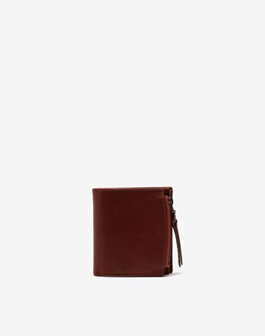 Small Leather Goods  Folded leather wallet Brown
