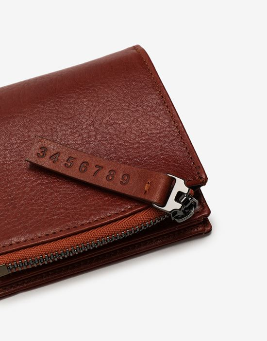 MAISON MARGIELA Folded leather wallet Wallets [*** pickupInStoreShippingNotGuaranteed_info ***] a