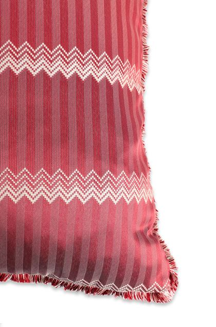 MISSONI HOME WELLS CUSHION Maroon E - Front