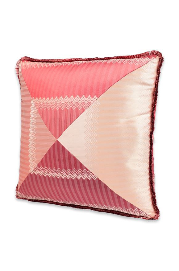 MISSONI HOME WELLS CUSHION Maroon E
