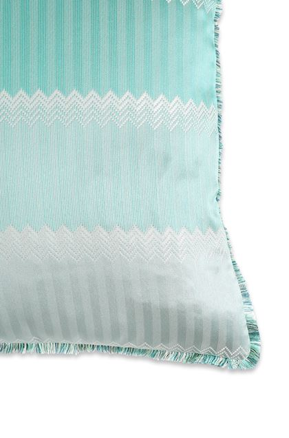 MISSONI HOME WELLS CUSHION Turquoise E - Front