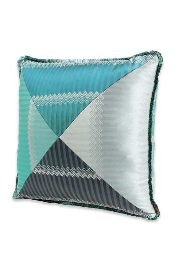 MISSONI HOME WELLS CUSHION Turquoise E