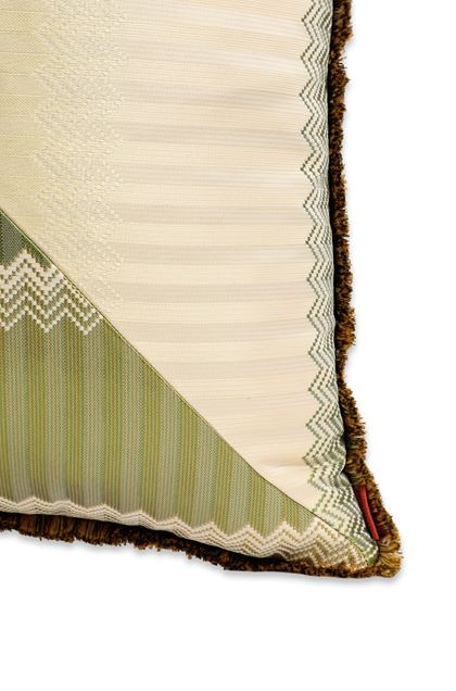 MISSONI HOME WELLS CUSHION Light green E - Front