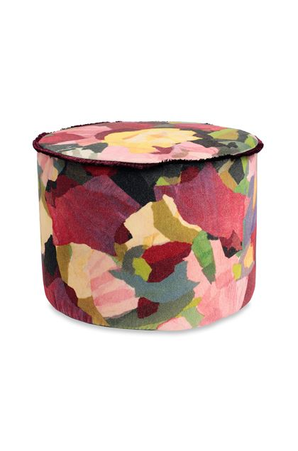 MISSONI HOME WIGHT CYLINDER POUF Garnet E - Back