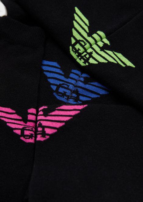 Set da 3 calzini fantasia con dettagli logati