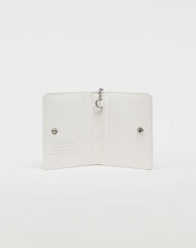 Small Leather Goods Glam Slam keyring wallet White