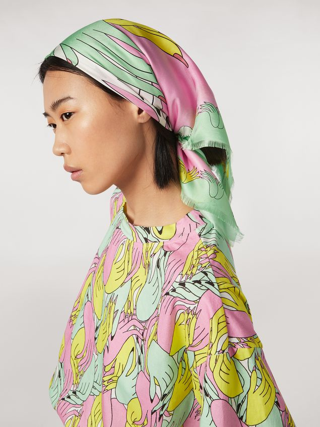 Marni Foulard in silk Prelude print by Bruno Bozzetto Woman - 2