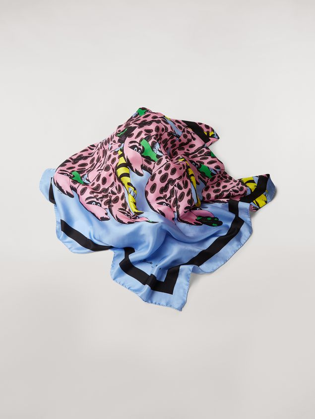 Marni Foulard in silk Bolero print by Bruno Bozzetto Woman - 1