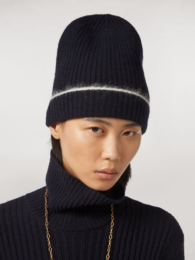 Marni Cashmere mohair and nylon hat Woman - 2