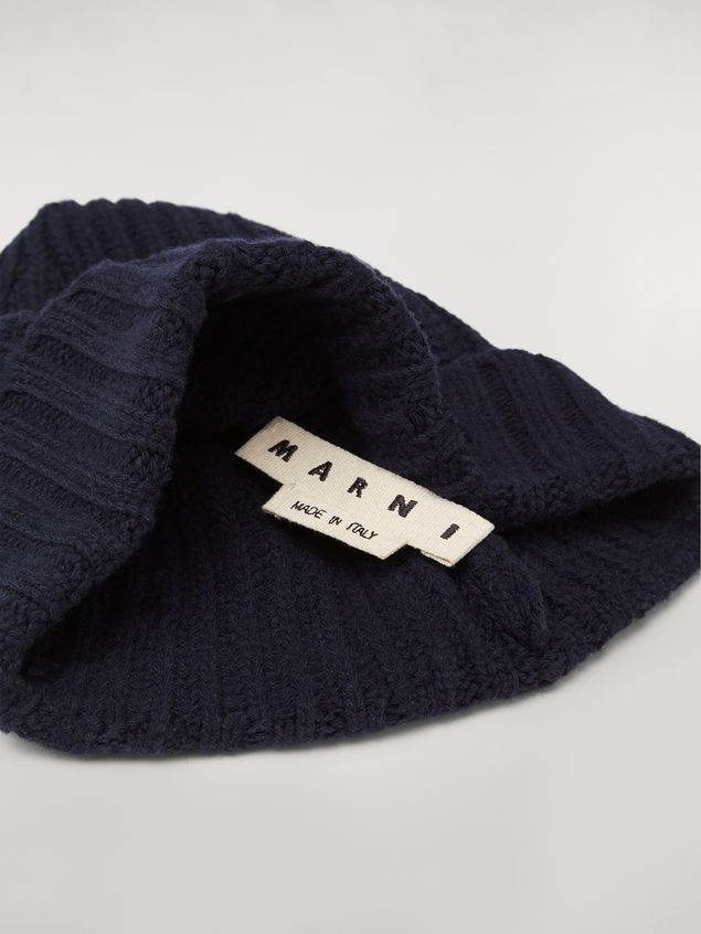MARNI Hat Man Blue cap in wool and cashmere a