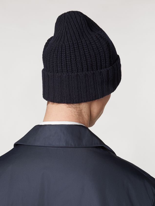Marni Blue cap in wool and cashmere  Man - 3