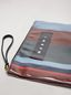 Marni GLOSSY GRIP clutch in dark blue, burgundy, light blue and red striped polyamide Woman - 2