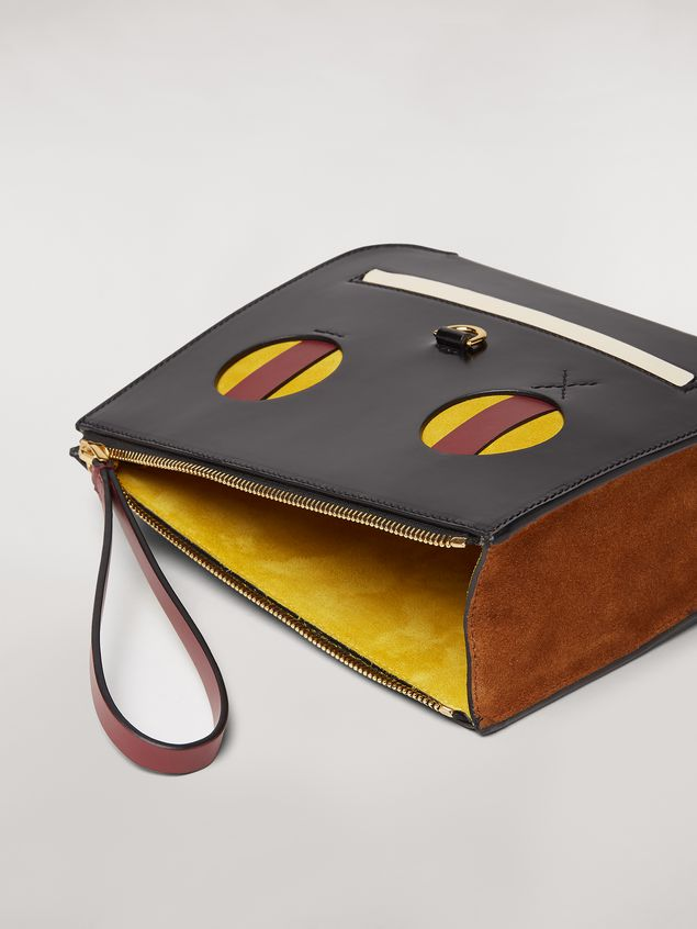 Marni Clutch in shiny leather with Emoji motif Woman - 5