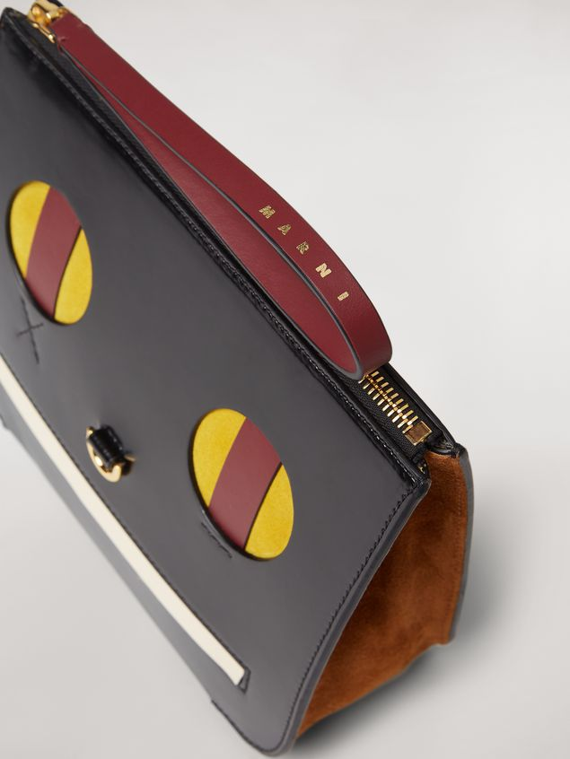 Marni Clutch in shiny leather with Emoji motif Woman - 4