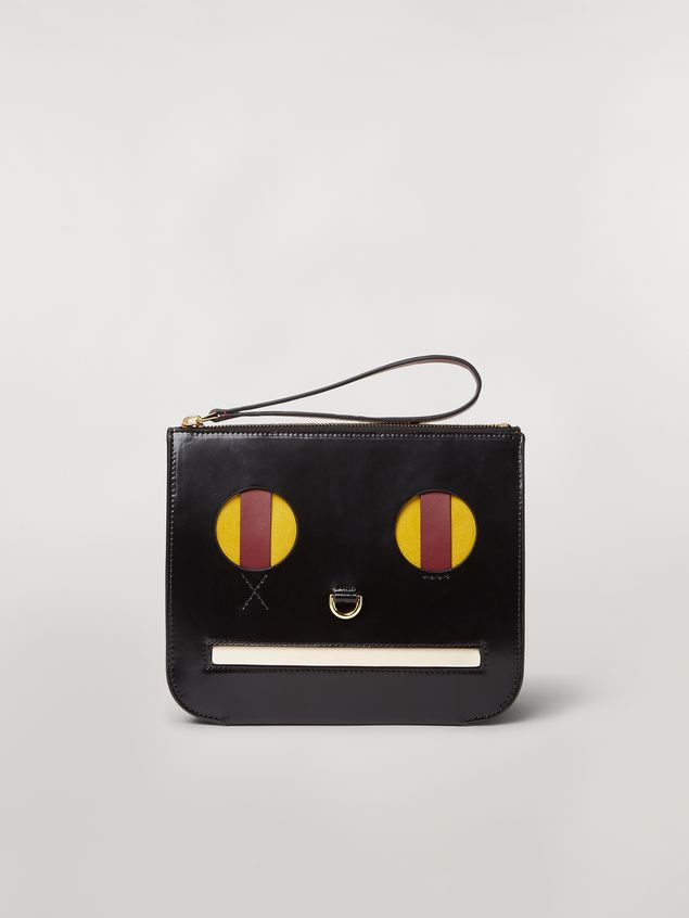 Marni Clutch in shiny leather with Emoji motif Woman - 1