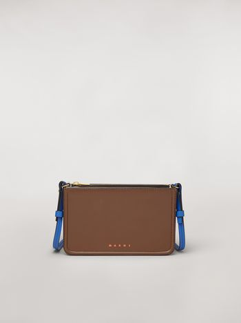 Marni Clutch in brown leather Woman f