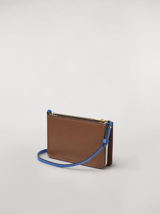 Marni Clutch in brown leather Woman