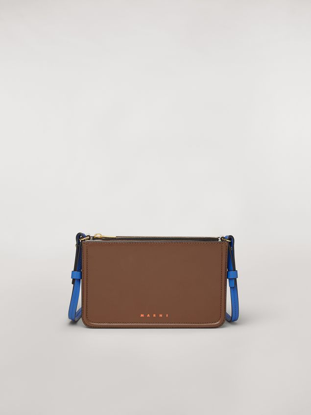 Marni Clutch in brown leather Woman - 1
