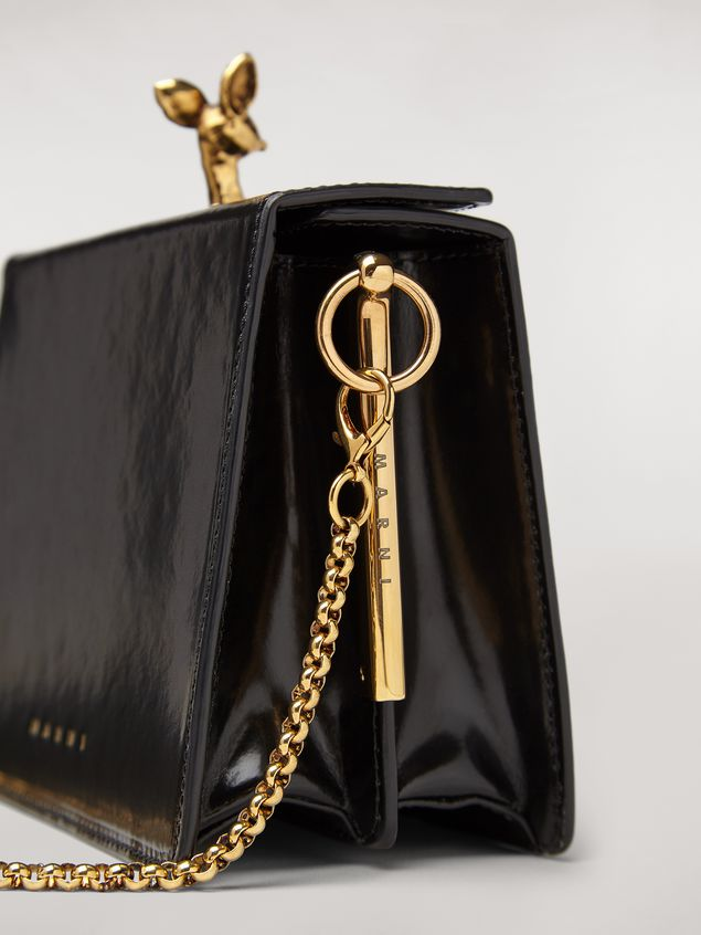 Marni FAWN bag in shiny calfskin black Woman - 4