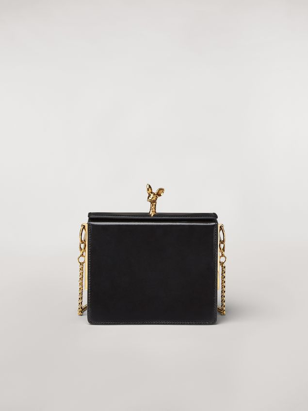 Marni FAWN bag in shiny calfskin black Woman - 1