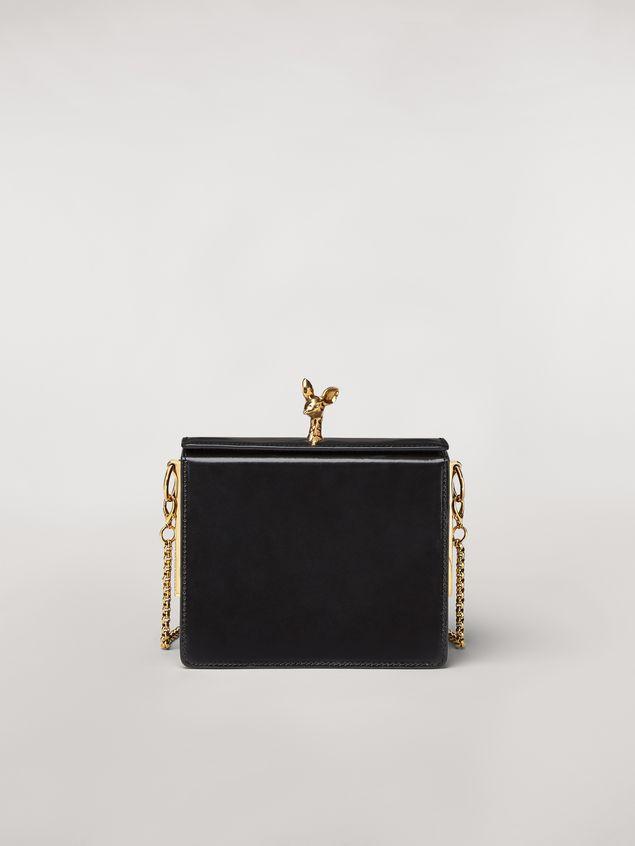 Marni Tasche FAWN aus glänzendem Kalbsleder in Schwarz Damen - 1