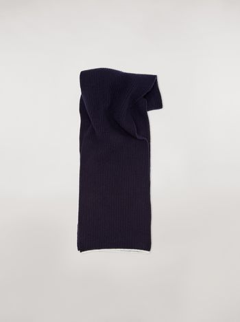 Marni Striped scarf in virgin wool mohair and nylon Woman f