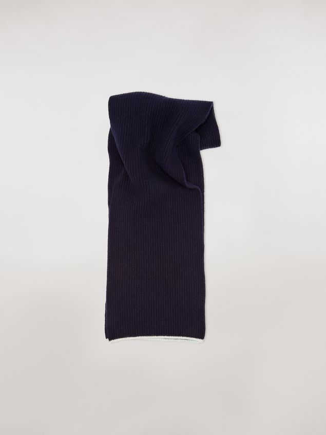 Marni Striped scarf in virgin wool mohair and nylon Woman - 1
