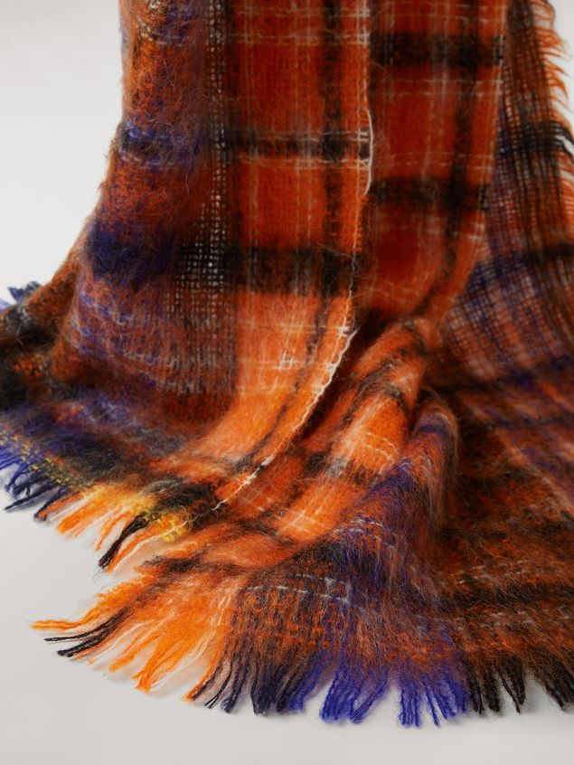 Marni Chequered virgin wool and mohair scarf Woman - 4
